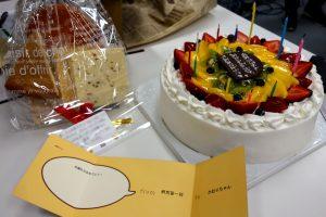 前田先生の誕生日をお祝いしました