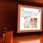 B3の池田さんがプレオープンキャンパスで学生の代表として発表